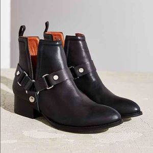Jeffrey Campbell Harness Moto Ankle Boots Booties